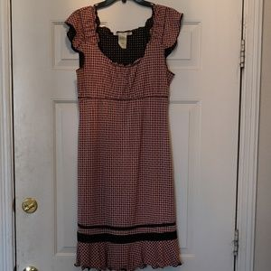 Max Studio Pink & Black Polyester Dress